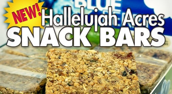 NEW! Hallelujah Acres Snack Bars