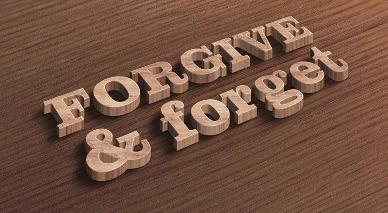 Do we erroneously associate forgiving with forgetting?