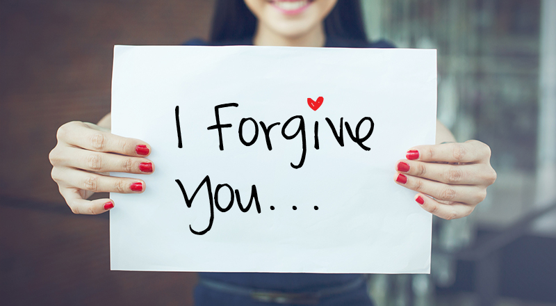 "And also to say the words ""I forgive you."""