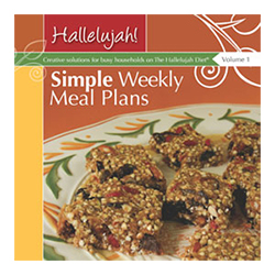Simple Weekly Meal Plans recipe book Volume 1 and 2