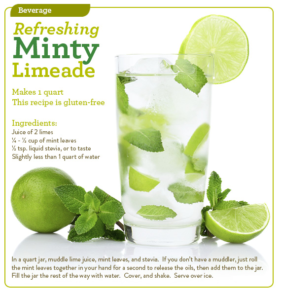 Refreshing Minty Limeade
