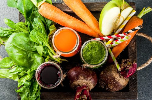 vegan food diet juices and produce