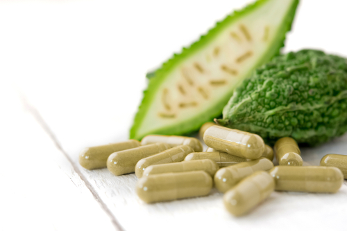 closeup asian cucumber supplement