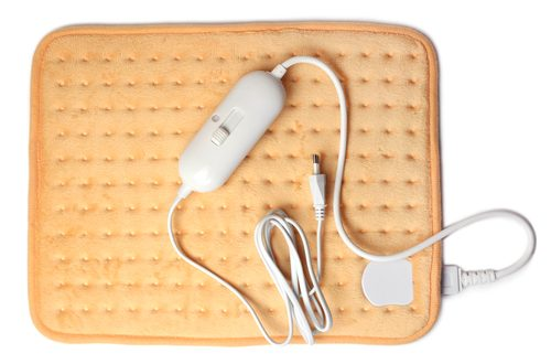 cream colored electric heating pad
