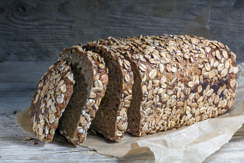 dark bread loaf whole grain