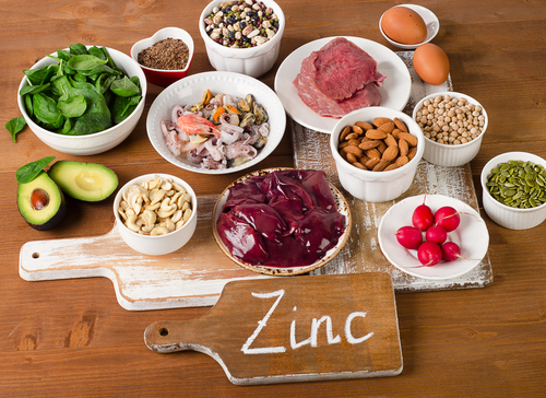 foods with zinc mineral on table