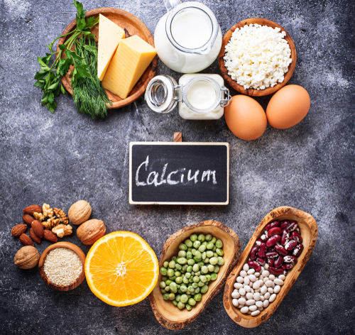 set of foods rich in calcium