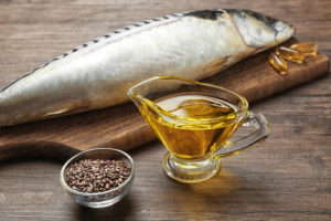 Fish oil with flax grain and fish