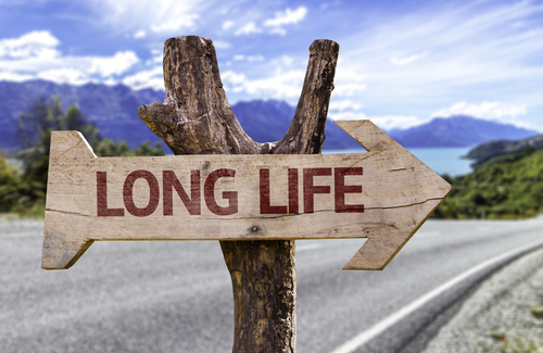 Long Life wooden sign