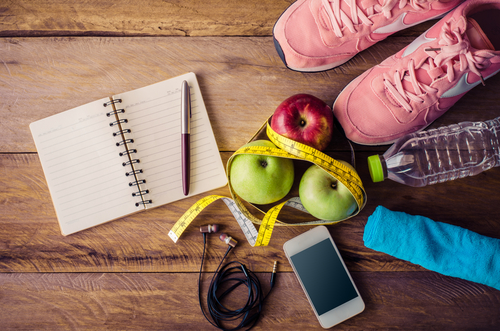 fitness concept with Exercise Equipment