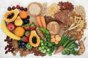 Food with high fiber content for a healthy diet