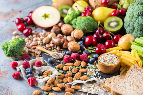 Healthy balanced dieting concept