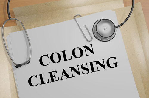 colon cleansing lettering on medical folder