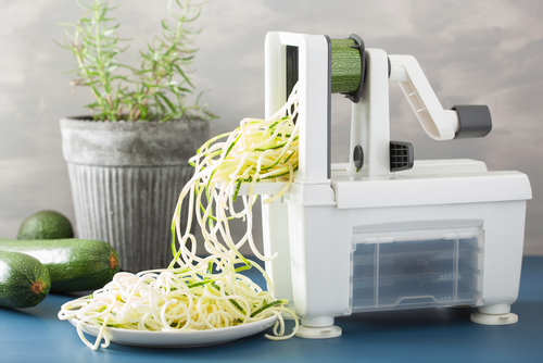 spiralizing raw vegetables