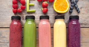 Assorted flavoured smoothie juices