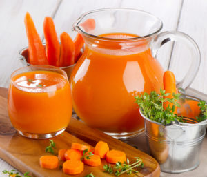 carrot juice with fresh herbs