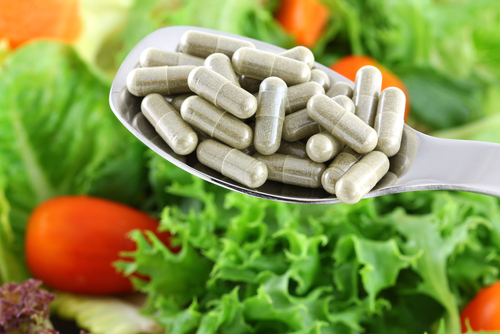 spoonful of concentrated fiber capsules