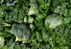 closeup of leafy green vegetables