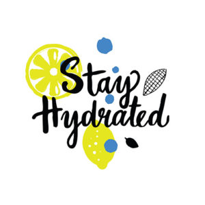 stay hydrated hand lettering