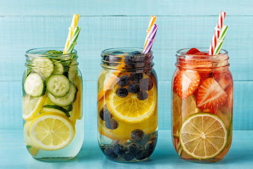 fruit infused water trio