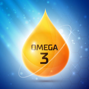 omega 3 icon illustration