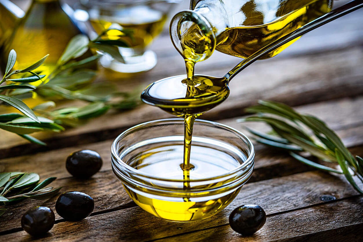 olive oil being