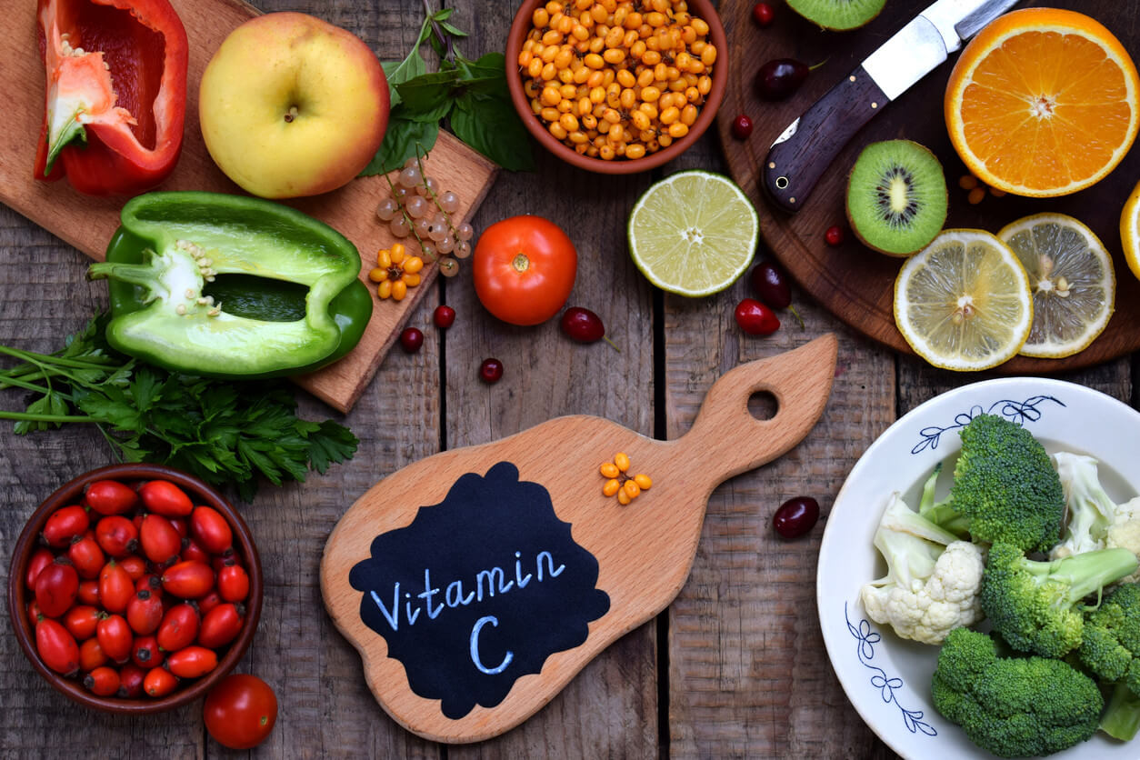 assortment of foods with vitamin c